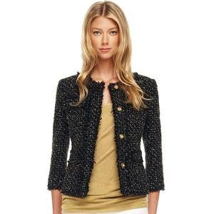 Michael Kors Metallic Tweet Jacket size 8